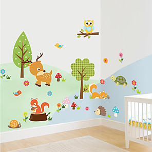 cheap Wall Stickers-ZY1223 forest animal owl children's room bedroom background wall sticker