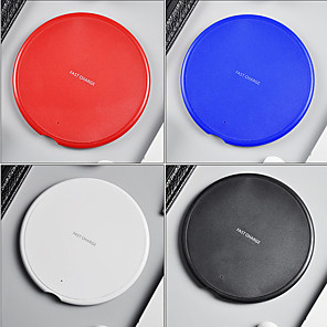 cheap Wireless Chargers-Fast Wireless Charger for Samsung Galaxy S9/S9 S8 S7 Note 9 S7 Edge USB Qi Charging Pad for IPhone XS Max XR X 8 Plus