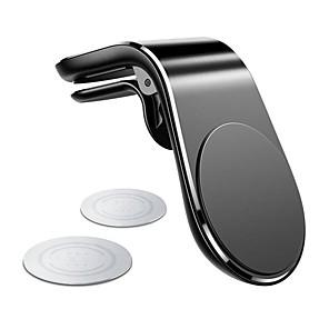 رخيصةأون حاملات هواتف-المعادن حامل الهاتف سيارة المغناطيسي لفون سامسونج xiaomi 360 الهواء المغناطيس الوقوف في سيارة لتحديد المواقع