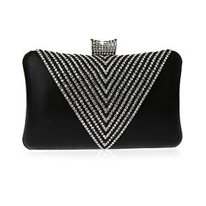 cheap Clutches & Evening Bags-Women's Crystals / Glitter PU Evening Bag Geometric Pattern Black / Wine / Purple