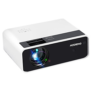 cheap Projectors-HoDieng HD13 LED MINI Projector 1280x720P Resolution Portable 3D video Beamer Home Cinema Optional Android WIFI Proyector HD13