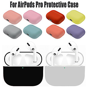 cheap Headphones Accessories-Silicone Protective Case For Apple Airpods Pro Wireless Bluetooth Earphone Soft Silicone Cover For Airpods Pro Protective Cases