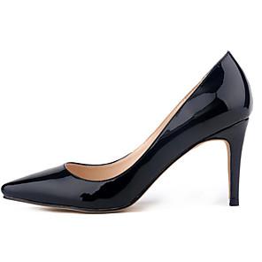 cheap Women's Heels-Women's Heels Stiletto Heel Pointed Toe Patent Leather Sweet / Minimalism Spring &  Fall / Spring & Summer Black / Light Yellow / Light Blue