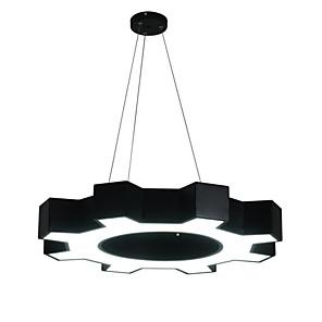 cheap Candle-Style Design-1-Light 60 cm Eye Protection / Creative / LED Chandelier Metal Circle / Geometrical / Novelty Black LED / Modern 110-120V / 220-240V