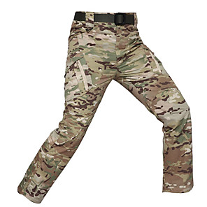 cheap Hiking Trousers & Shorts-Men's Camouflage Hunting Pants Wearproof Comfortable Spring Summer Fall Camo / Camouflage for Camouflage M L XL XXL XXXL / Winter