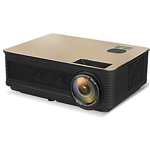 cheap Projectors-HoDieng HD05 HD05W Full HD 1080P Projector 4K 6500 Lumens Cinema Proyector Beamer Android WiFi Bluetooth hdmi VGA AV USB