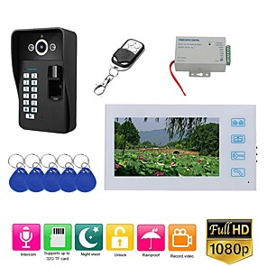 cheap Video Door Phone Systems-MOUNTAINONE SY813FKID11 Wired & Wireless Built in out Speaker 7 inch Hands-free One to One video doorphone