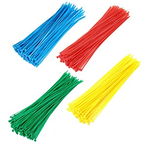 cheap Other Hand Tools-400pcs Self-locking Nylon Cable Ties Colorful Plastic Zip Tie  Durable Wire Binding Wrap Straps Wiring Accessories