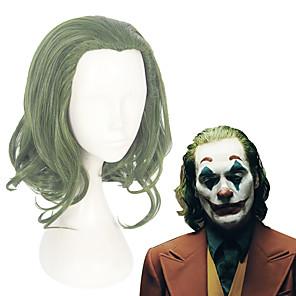 cheap Movie & TV Theme Costumes-Cosplay Joker Cosplay Wigs Men's Women's 12 inch Heat Resistant Fiber Green Green Anime