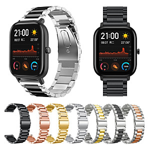 cheap Smartwatch Bands-Watch Band for Amazfit  GTR  42mm / Amazfit Bip Lite / Amazfit GTS Amazfit Business Band Stainless Steel Wrist Strap