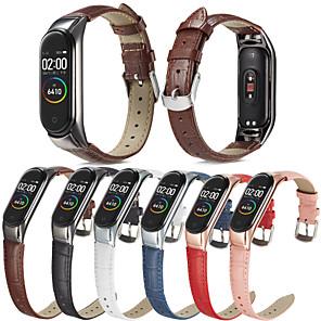 cheap Smartwatch Bands-Watch Band for Mi Band 3 / Xiaomi Mi Band 4 Xiaomi Business Band Genuine Leather Wrist Strap