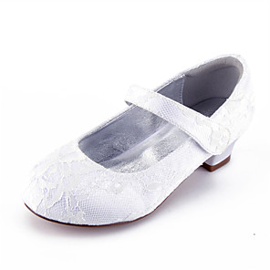 cheap Kids' Tiny Heels-Girls' Mary Jane Lace Heels Little Kids(4-7ys) / Big Kids(7years +) White / Champagne / Ivory Spring / Party & Evening / Rubber