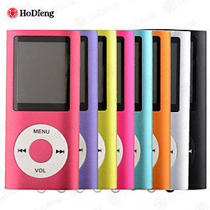 "cheap Hifi player-HODIENG New 4TH 1.8""LCD MP4 player Video Radio FM Player MP4 with 2GB 4GB 8GB 16GB 32GB SD TF Card E-book Player Mp3 Mp4 HIFI USB Mini Portable Walkman"