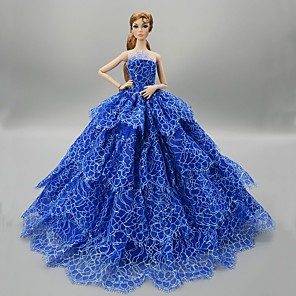 cheap Dolls Accessories-Doll accessories Doll Clothes Doll Dress Wedding Dress Party / Evening Wedding Ball Gown Tulle Lace Organza For 11.5 Inch Doll Handmade Toy for Girl's Birthday Gifts  Doll Not Included / Kids