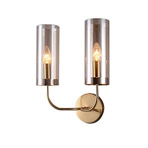 cheap Indoor Wall Lights-Nordic light luxurious wall lamp living room lamp personality creative bedroom porch hotel corridor double head contracted wall lamp