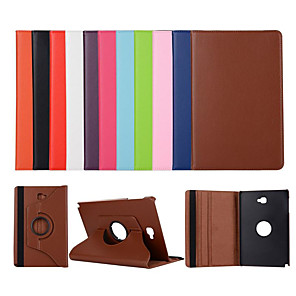 cheap Other Phone Case-Case For Samsung Galaxy Tab A 10.1(2019)T510 / Tab A 10.5 T595 T590  / Tab A 8.0(2019)T290/295 360 Rotation / with Stand Full Body Cases Solid Colored PU Leather Case For Samsung Tab A 8.4 (2020) T307