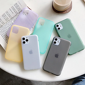 cheap iPhone Cases-Case For Apple iPhone 11 / iPhone 11 Pro / iPhone 11 Pro Max Dustproof Back Cover Solid Colored TPU
