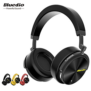 cheap On-ear & Over-ear Headphones-Bluedio T5 HiFi Active Noise Cancelling Headphones Wireless Bluetooth Over-ear Headset with Microphone for Smart Phones