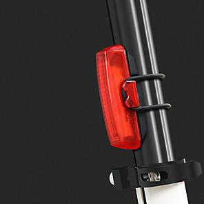 cheap Bike Lights & Reflectors-LED Bike Light Rear Bike Tail Light Bicycle Cycling Portable Durable Lightweight Rechargeable Li-Ion Battery 100 lm Rechargeble Battery Red Cycling / Bike