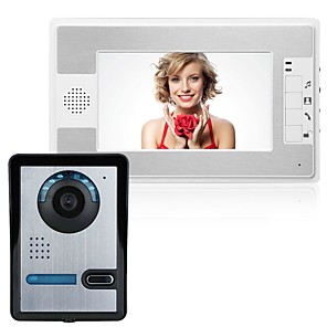 cheap Video Door Phone Systems-MOUNTAINONE SY812FA11 Wired Built in out Speaker 7 inch Hands-free One to One video doorphone