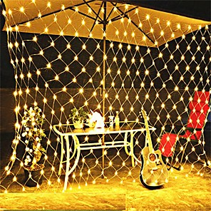 cheap LED String Lights-3x2M String Lights 320 LEDs 1 set Warm White Christmas / New Year's Waterproof / Party / Wedding 220-240 V