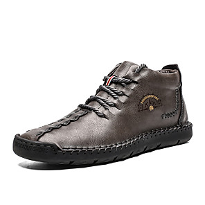 cheap Men's Boots-Men's Comfort Shoes PU Spring / Fall & Winter Sporty / Casual Boots Non-slipping Booties / Ankle Boots Black / Light Brown / Dark Brown
