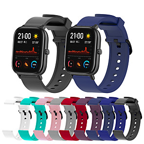 cheap Smartwatch Bands-Sport Silicone Watch Band For Huami Amazfit GTS / GTR 42mm / Bip Youth Replaceable Bracelet Wrist Strap Wristband