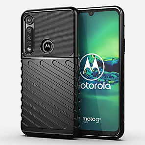 cheap Other Phone Case-Case For Motorola MOTO G8PLUS / MOTO G8PLAY / MOTO E6 play Shockproof Back Cover Solid Colored TPU
