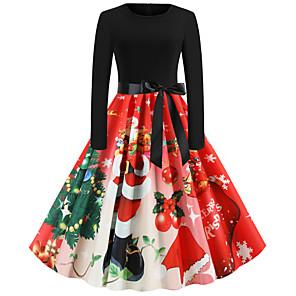 povoljno Santa odijela & Božićna haljina-Audrey Hepburn Haljine Žene Odrasli Božić Božić Božić Poliester Haljina