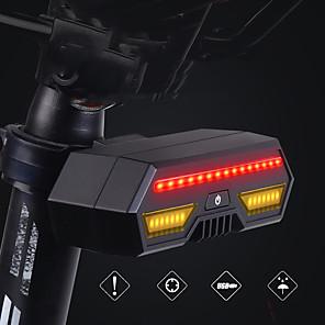 cheap Bike Lights & Reflectors-LED Bike Light Turn Signal Light Brake Light Rear Bike Tail Light Mountain Bike MTB Bicycle Cycling Waterproof Smart Induction Wireless Remote-Controlled 85 lm Rechargeable USB Black Camping / Hiking