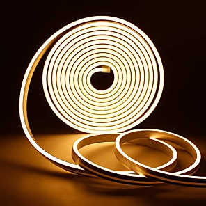 cheap Neon LED Lights-1pc 1m 12V Silicone LED Neon Rope Lights Flexible Waterproof Strip Lights for DIY Indoor Outdoor Decorative Signs Letters