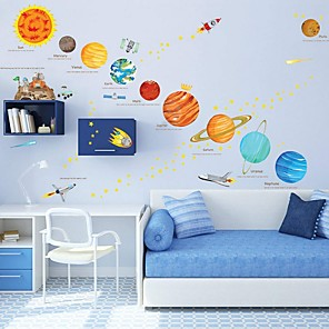 cheap Wall Stickers-Shapes Wall Stickers Plane Wall Stickers Decorative Wall Stickers, PVC Home Decoration Wall Decal Wall Decoration 1pc