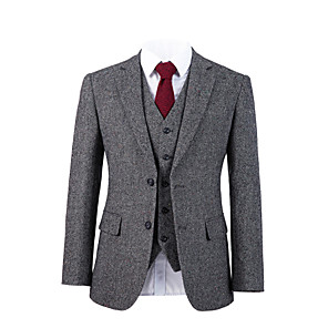 cheap Custom Tuxedo-Gray starlight tweed wool custom suit