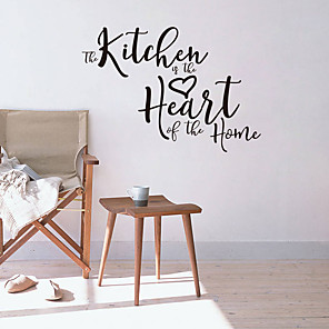 cheap Wall Stickers-Kitchen heart generation carved English rumors home background decoration removable stickers JZQ305