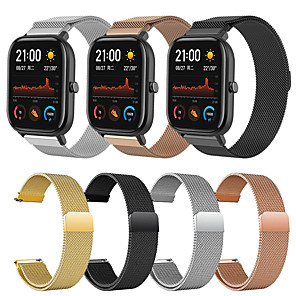 cheap Smartwatch Bands-Metal Milanese Loop Watch Band For Amazfit GTS / GTR 42mm / Bip Youth Replaceable Bracelet Wrist Strap Wristband