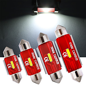 cheap License Plate Lights-4pcs C5W Festoon 36mm 31mm 39mm 41mm LED Bulbs CANBUS 1860 SMD White Lamp For Car Auto Interior External Dome Trunk License Plate Lights