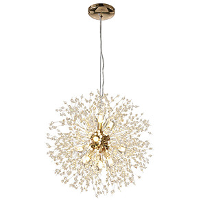 cheap Candle-Style Design-12-Lights Modern Electroplated Globe Chandeliers Firework Led Nordic Style Pendant Lights Living Room Dining Room G9 Bulb Base