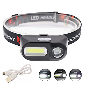 cheap LED Camping Lights-LED Outdoor Lights Head-Mounted 5W High Power Strong Head Light USB Charging White Light - Without Battery
