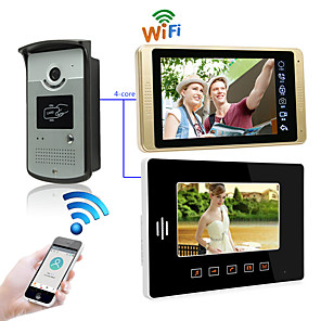 cheap Video Door Phone Systems-LITBest Wired & Wireless 7 inch Hands-free 1024*600 Pixel One to Two video doorphone