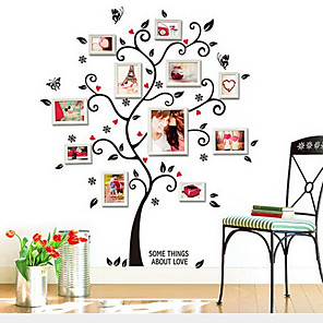 cheap Wall Stickers-AY6031 black photo tree photo frame wall photo wall home background decoration removable sticker