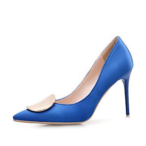 cheap Wedding Shoes-Women's Heels Stiletto Heel Pointed Toe Rhinestone Satin Minimalism Spring &  Fall / Spring & Summer Black / White / Purple / Party & Evening