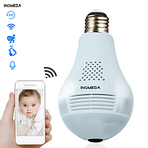 cheap Indoor IP Network Cameras-INQMEGA 960P Cloud Wireless IP Camera Bulb Light Panoramic Home Security Surveillance 360 Degree 3D VR CCTV WIFI Camera