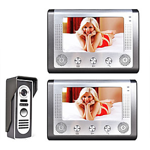 cheap Video Door Phone Systems-MOUNTAINONE SY801M12 Wired Built in out Speaker 7 inch Hands-free One to Two video doorphone