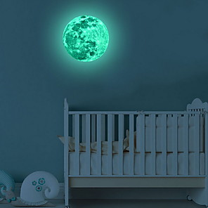 cheap Wall Stickers-Moonlight Glow in the Dark Moon Wall Decal Sticker Decorative Removable Wall Decals Stickers for Bedroom and Children's Room