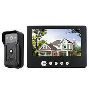 cheap Video Door Phone Systems-MOUNTAINONE SY905QA11 Wired Built in out Speaker 7 inch Hands-free One to One video doorphone