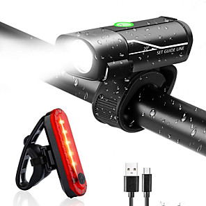 cheap LED Camping Lights-LED Bike Light Rechargeable Bike Light Set Rear Bike Tail Light Safety Light XP-G2 Mountain Bike MTB Bicycle Cycling Waterproof Multiple Modes Super Bright Portable Li-polymer 350 lm USB Daylight Red