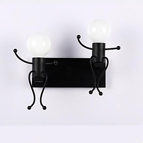 cheap Wall Sconces-Vintage Wall Lamps & Sconces Living Room / Kids Room Metal Wall Light 110-120V / 220-240V 40 W