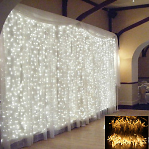 cheap Pathway Lights-1pcs 2x2m LED Curtain Fairy Lights String Christmas Led Patio Party Wedding Window Decor Outdoor String Lights For New Year