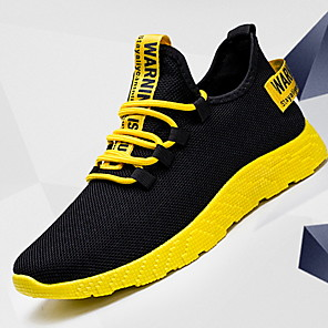 cheap Men's Athletic Shoes-Men's Comfort Shoes Winter Sporty / Casual Athletic Daily Outdoor Trainers / Athletic Shoes Running Shoes Canvas Breathable Non-slipping Shock Absorbing Mid-Calf Boots White / Yellow / Red Color