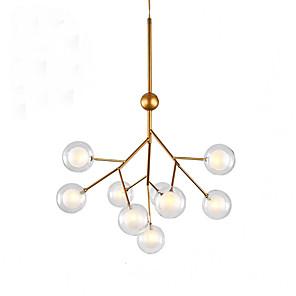 cheap Island Lights-QIHengZhaoMing 9-Light 52 cm Chandelier Metal Glass Painted Finishes Modern 110-120V / 220-240V